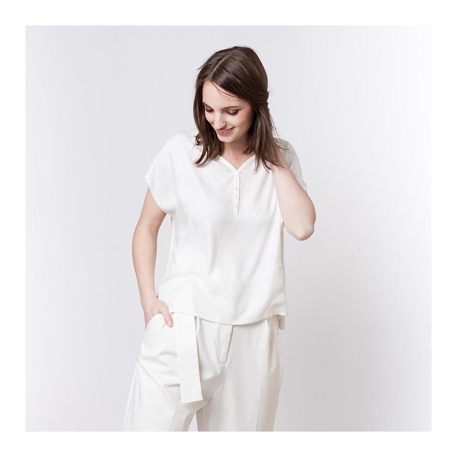 Blouse en coton Alix 6200 Blanc - 02 Blanc