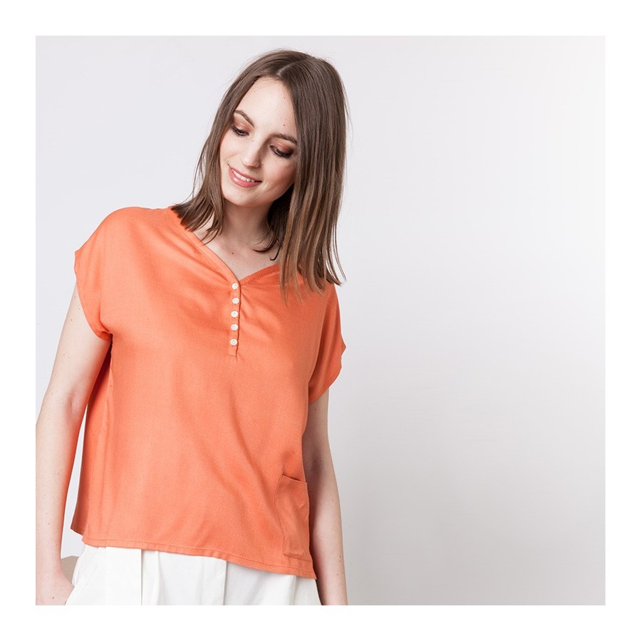Blouse en coton Alix 6270 Aurore - 15 Orange