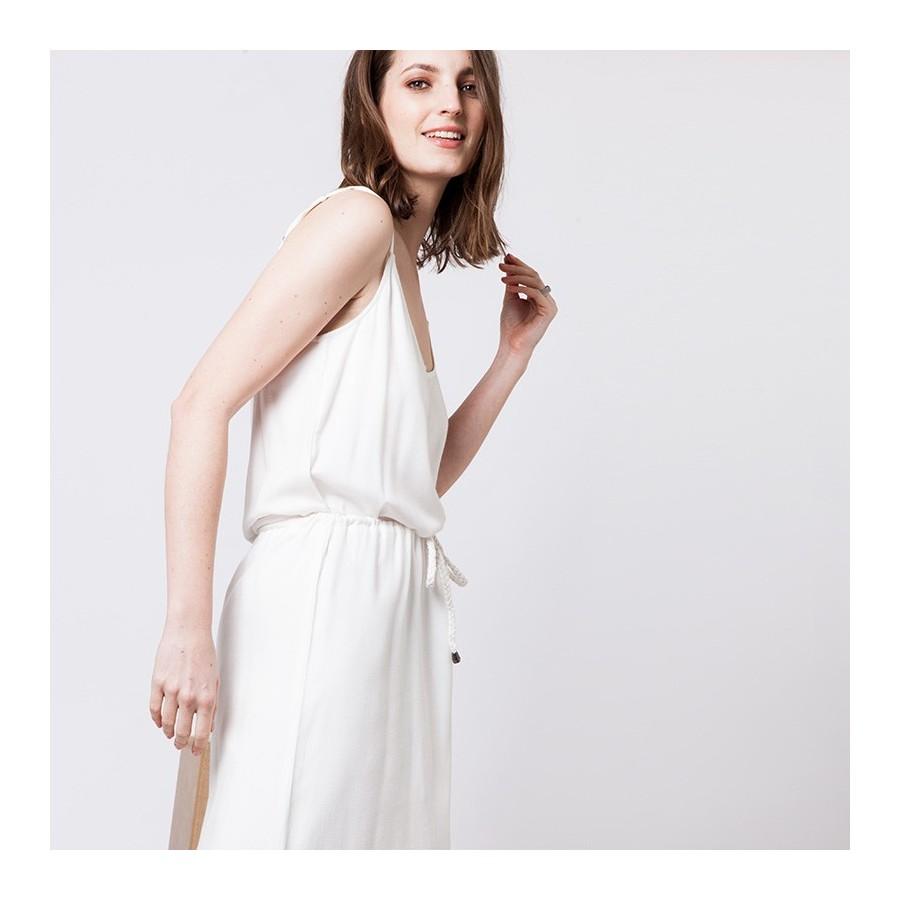 Robe à bretelles en coton Alvin 6200 Blanc - 02 Blanc