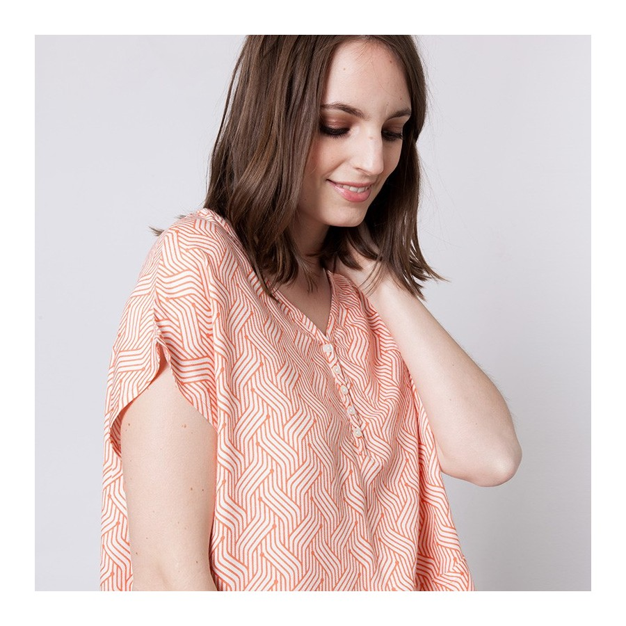 Patterned cotton blouse Alix