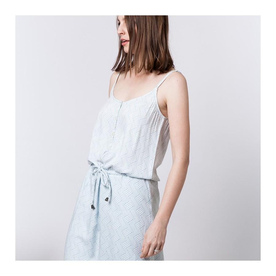 Robe bretelles à motifs graphiques Alvin 6204 Blanc-Austral - 02 Blanc