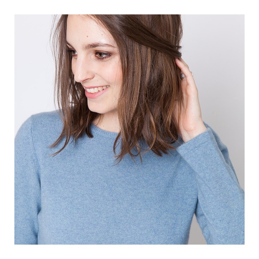 Crew neck pullover made of cashmere Ursula