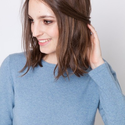 Crew neck pullover made of cashmere - Ursula