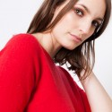 Pull manches coudes en cachemire Juliette 5947 Coccinelle - 52 Rouge