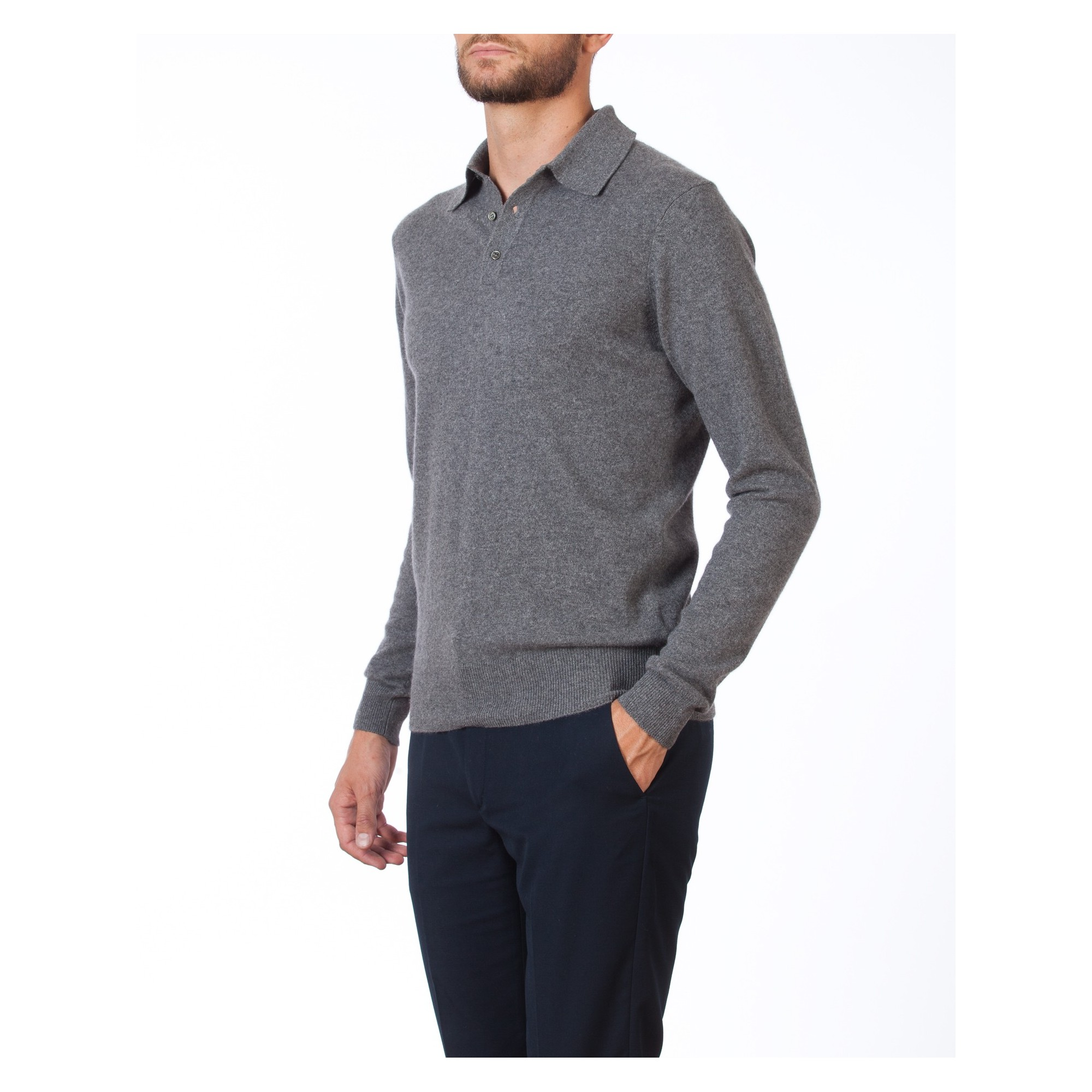 5696f21c5 Man s polo collar pullover of quality made of cashmere