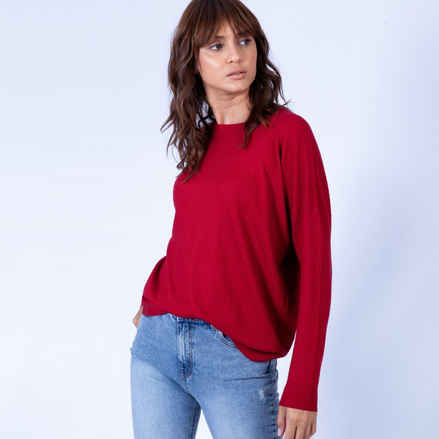 Oversized ribbed jumper – Gladys