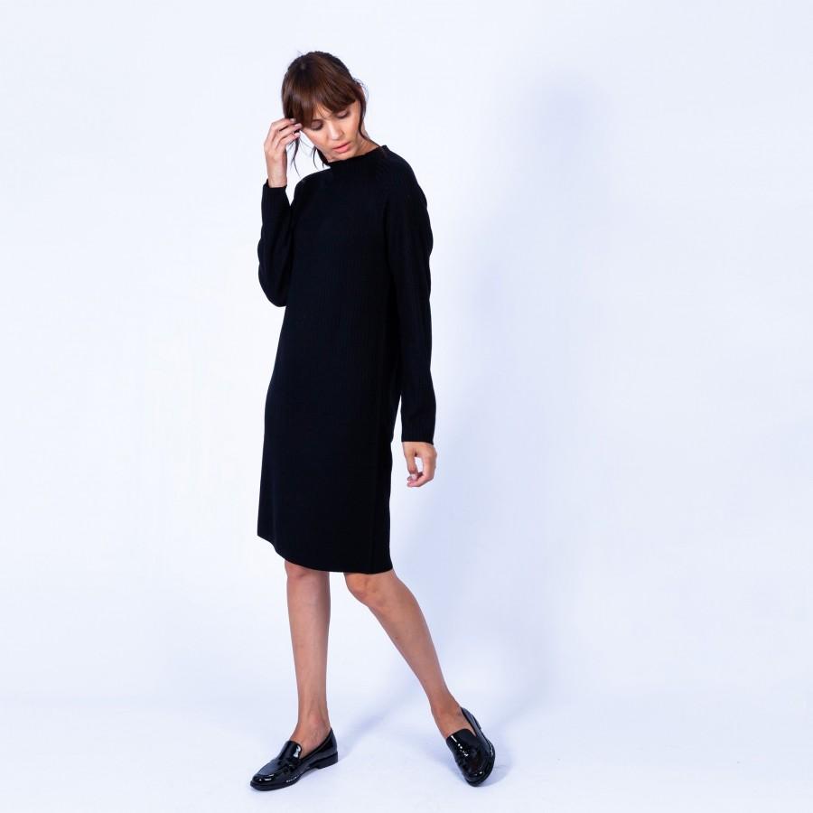 Robe pull toute droite - Goldie 6310 Noir - 01 Noir