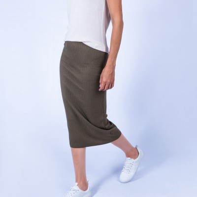 Wool ribbed skirt - Grace