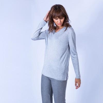 Oversized cashmere bamboo V-neck jumper – Hoani