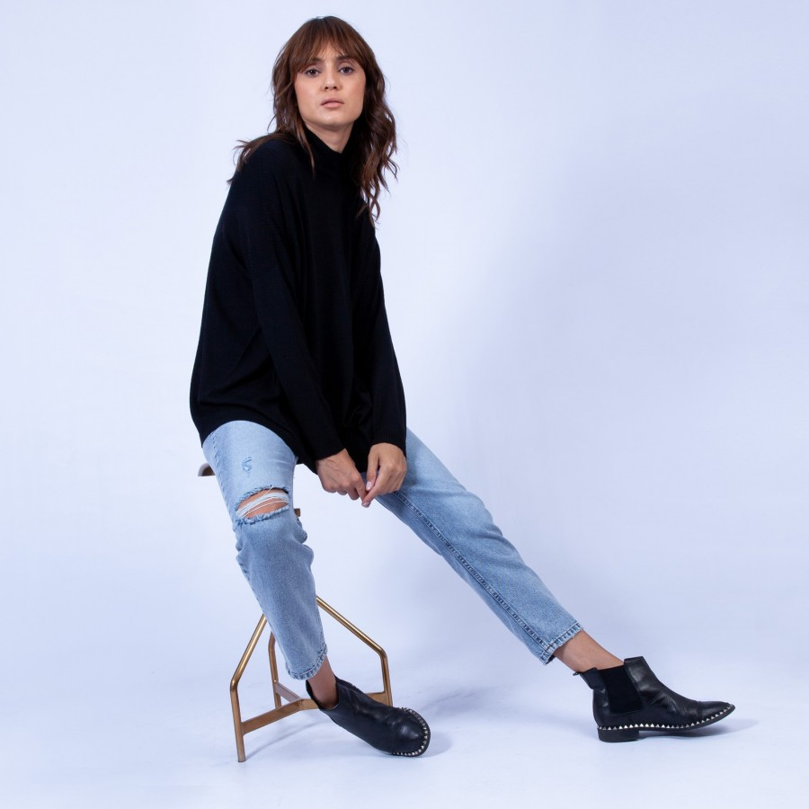 Oversized jumper with stand-up collar – Garance