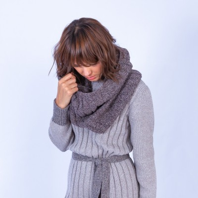 Tour de cou en laine et alpaga - Gingera