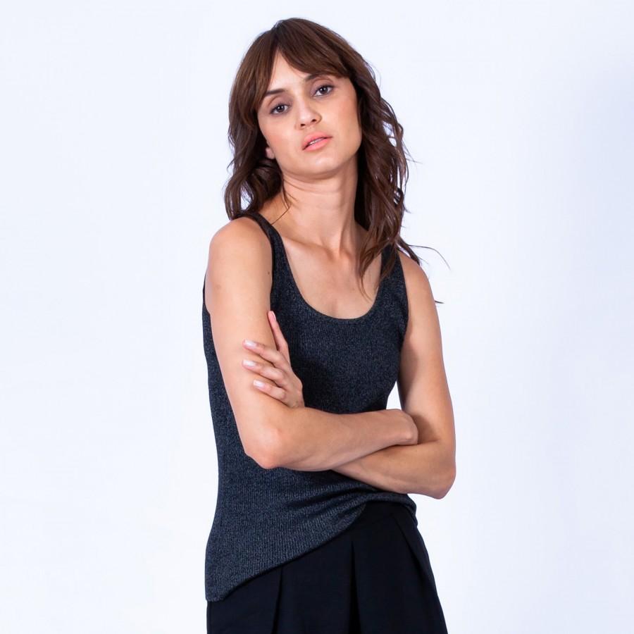 Débardeur en laine mélangée- Georgie 6310 Noir - 01 Noir