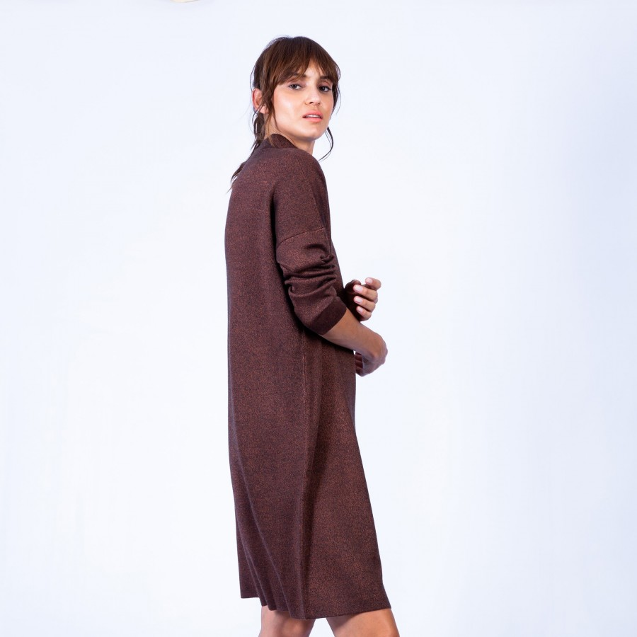 Robe ample avec col montant Grazia 6371 Santal - 20 Rouge f