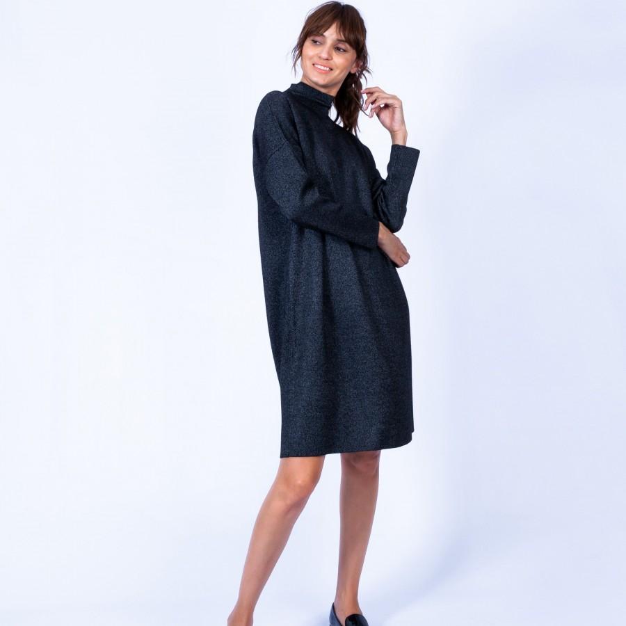 Robe ample avec col montant Grazia 6310 Noir - 01 Noir