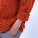 Gilet oversize en mohair Gabel 6371 Santal - 15 Orange