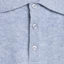 Polo en cachemire Franklin 6350 glace - 11 gris clair