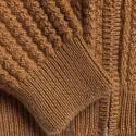 Gilet col montant zippé en alpaga Fribourg 6349 camel - 46 marron clair