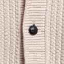 Veste boutonnée en alpaga Francfort 6348 calcaire - 82 écru