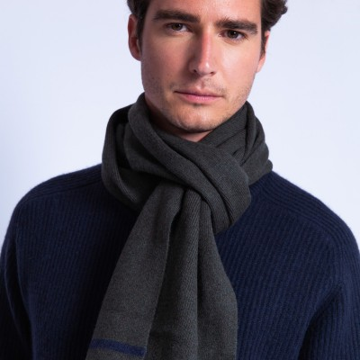 Two-tone cashmere scarf - Fabrice