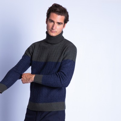 Cable knit cashmere jumper - Faust