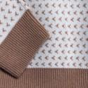 Pull bicolore en cachemire Filibert 6353 camel calcaire - 46 marron clair