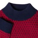 Pull bicolore en cachemire Filibert 6355 marine imperial - 05 bleu marine
