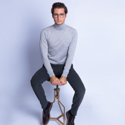 Turtleneck sweater in merino wool - Finlay