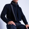 Striped merino wool scarf - Fathy