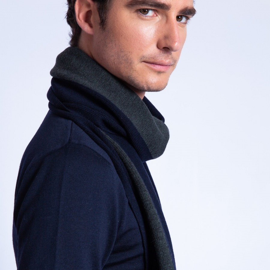 Striped merino wool scarf - Fathy