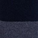 Bonnet bicolore laine mérinos - Fergie 6340 marine rafale - 05 bleu marine