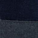 Bonnet bicolore laine mérinos - Fergie 6352 marine fusain - 83 kaki