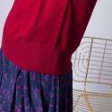 Pull col roulé en laine mérinos - Elisa 6384 rouge cerise - 20 rouge foncé