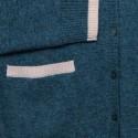 Gilet double col en cachemire - Eddie 6398 vert paon nude - 22 vert moyen