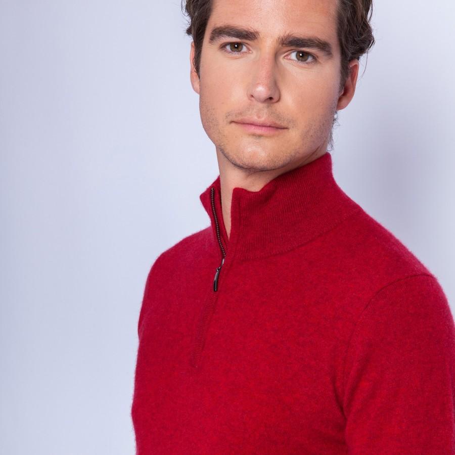 Zipped collar cashmere sweater - Filip