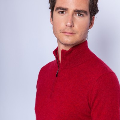 Zipped collar cashmere sweater - Filip