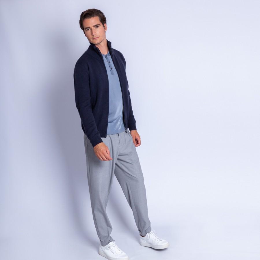 Cashmere zipped waistcoast - François
