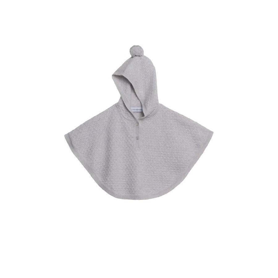 Cape en cachemire - Incognito 6366 plume - 11 gris clair