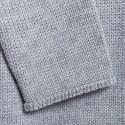 Pull col montant en alpaga et soie - Haji 6366 plume - 11 gris clair