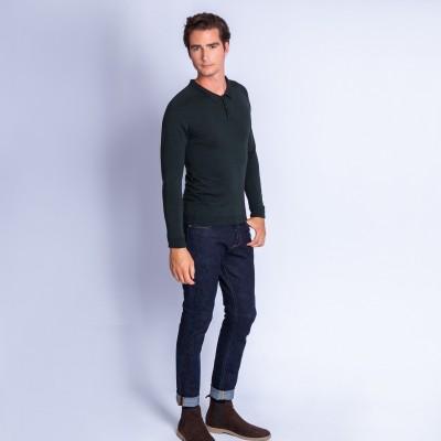 Polo en laine et soie - Ferat