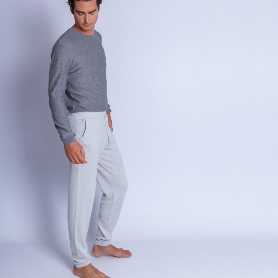 Pantalon en cachemire - Harvey 6366 plume - 81 gris pale