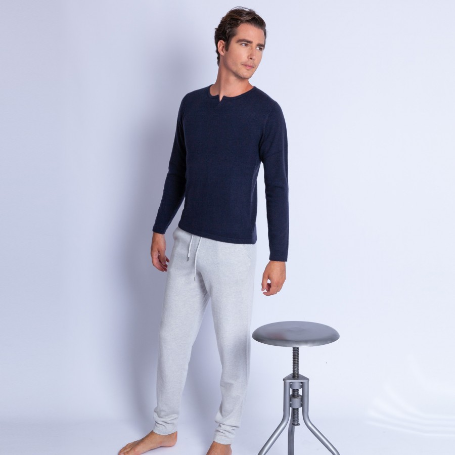 Cashmere open collar jumper - Hugo