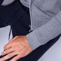 Gilet zippé en coton cachemire - Hiro 6344 rafale - 09 gris moyen