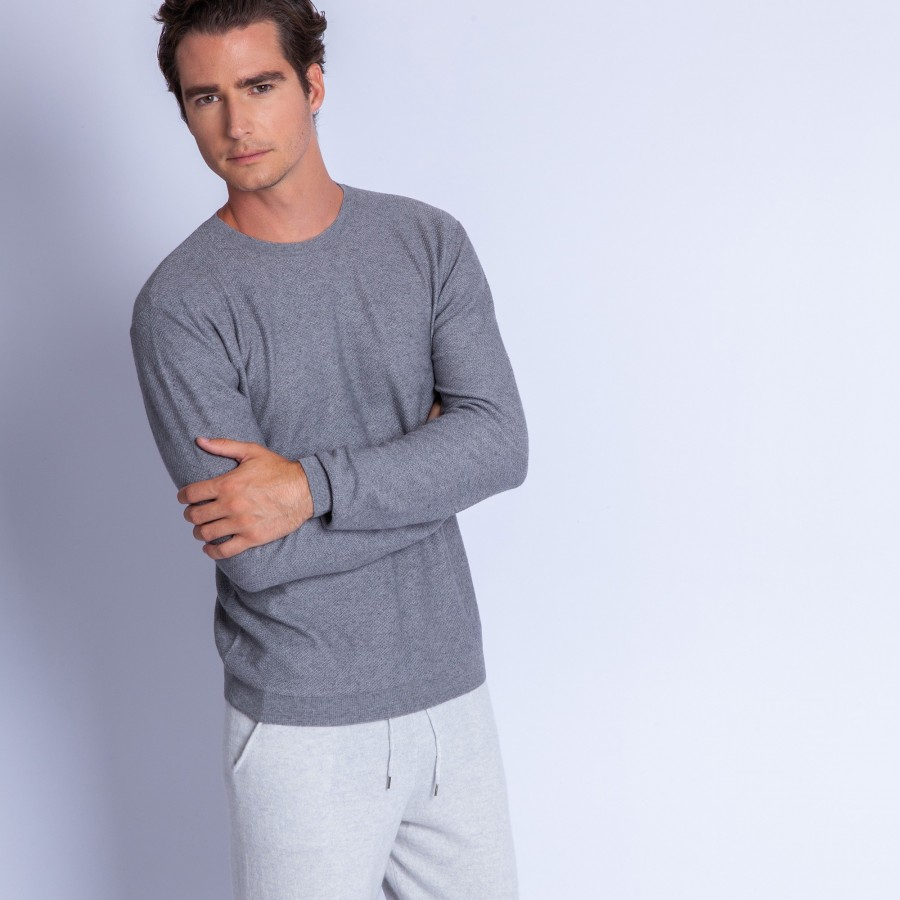aaad4ccb0 Cotton and cashmere crew neck jumper - Hizoka - Maison Montagut