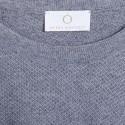 Pull ras du cou en coton cachemire - Hizoka 6344 rafale - 09 gris moyen