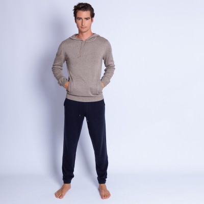Cotton and cashmere hoodie - Hiroji