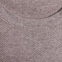 T-shirt col rond en coton cachemire - Hideo 6362 gazelle - 14 beige fonce