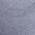 T-shirt col rond en coton cachemire - Hideo 6344 rafale - 09 gris moyen