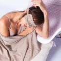 Masque de sommeil en cachemire - Hania 6362 gazelle - 14 beige fonce