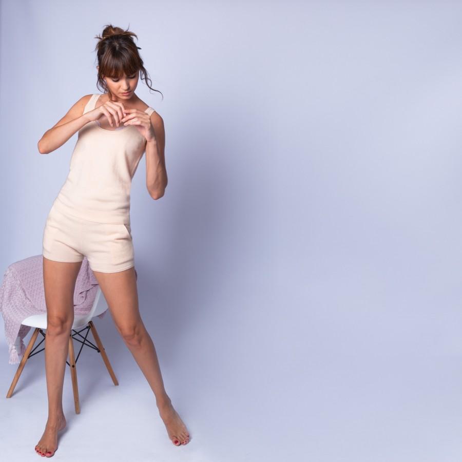 Débardeur en cachemire - Hajo 6361 opale - 85 nude