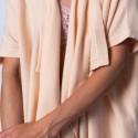 Gilet kimono sans manches - Harriet 6361 opale - 12 beige clair